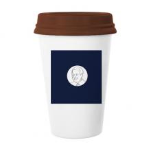 美国总统人物拜登蓝色国旗 陶瓷杯子马克杯带盖锥形水杯礼物