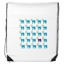 美国党派民主形象排列驴特异 运动背包购物包双肩拉带球包礼物