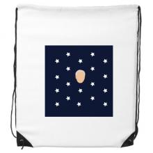 美国总统人物拜登蓝色星星 运动背包购物包双肩拉带球包礼物