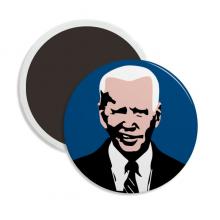 拜登美国总统不屑鄙视 圆形陶瓷冰箱磁铁贴2枚