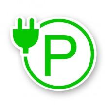 新能源电动车充电桩停车场电动汽车充电站标识符号装饰贴纸