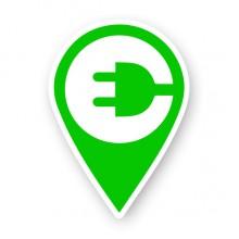 绿色充电标志新能源电动车充电桩电动汽车充电站标识符号装饰贴纸